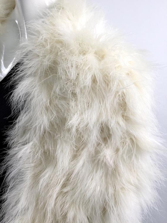 1950s marabou feather stole vintage - image 7
