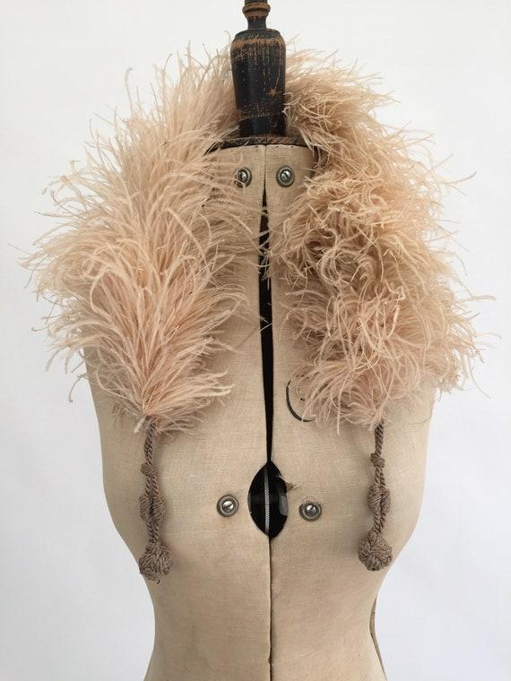1920s ostrich feather boa vintage antique flapper