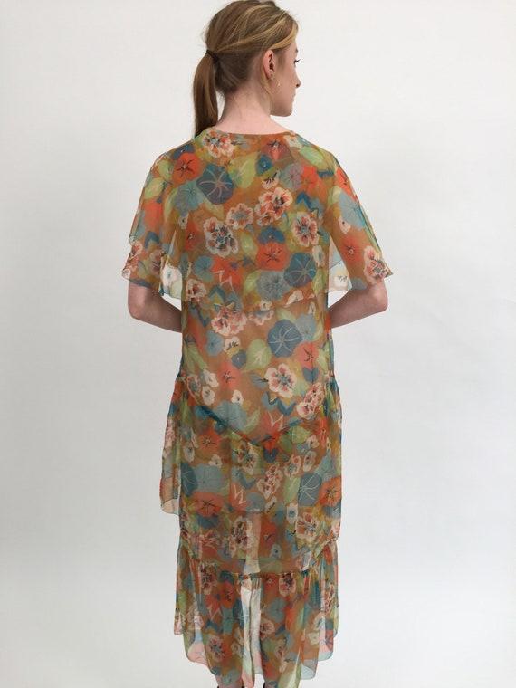 1920s dress silk chiffon dress vintage antique - image 6