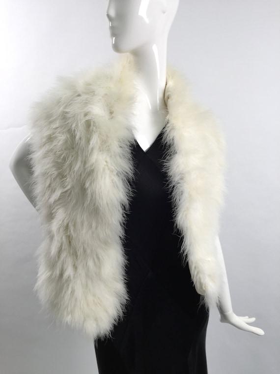 1950s marabou feather stole vintage - image 3