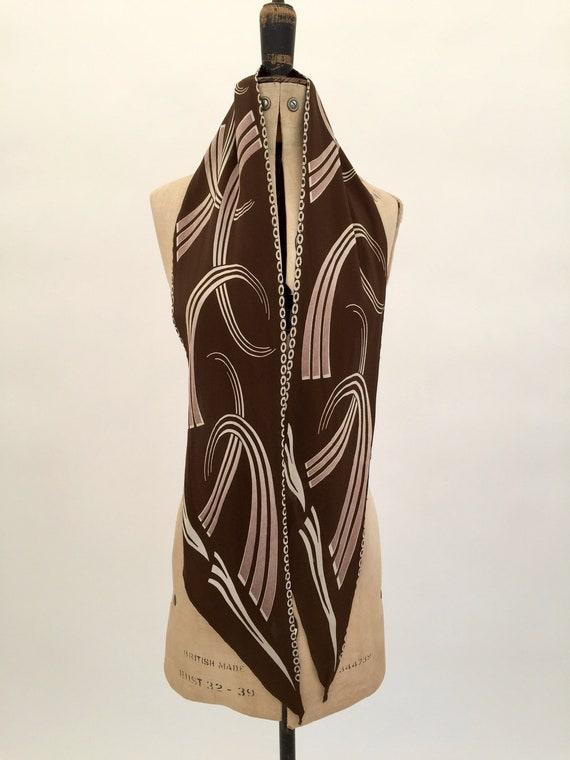 1930s silk scarf Art Deco design vintage antique