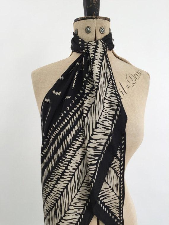 1930s silk scarf vintage antique Art Deco