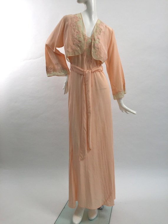 1930s silk slip nightdress with matching jacket vi