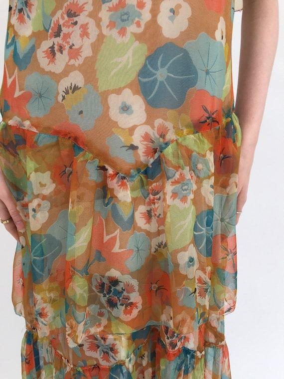 1920s dress silk chiffon dress vintage antique - image 3