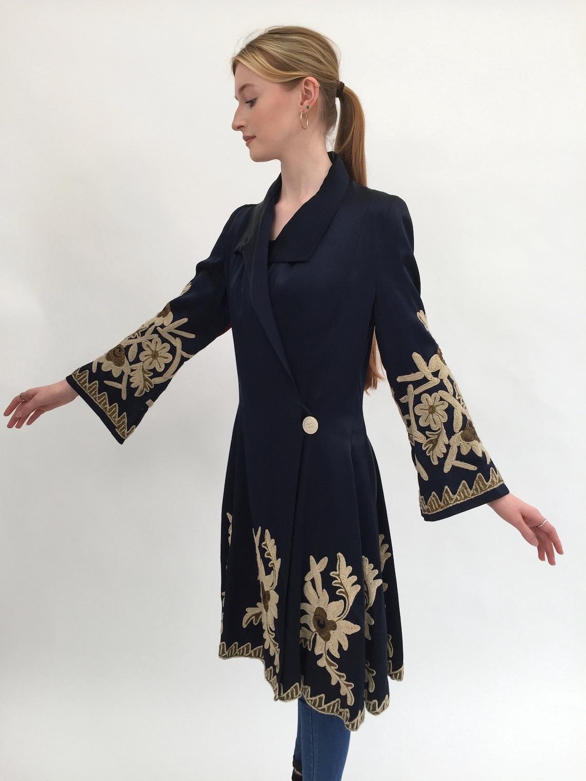 1920s Embroidered Couture Coat Vintage Antique Art Deco
