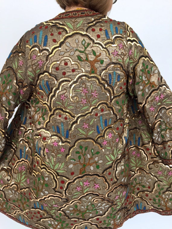 1920s lamé evening coat Margaine Lacroix beaded an
