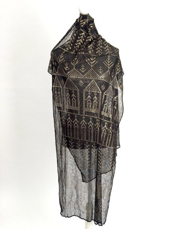 1920s Assuit shawl scarf Egyptian Revival vintage