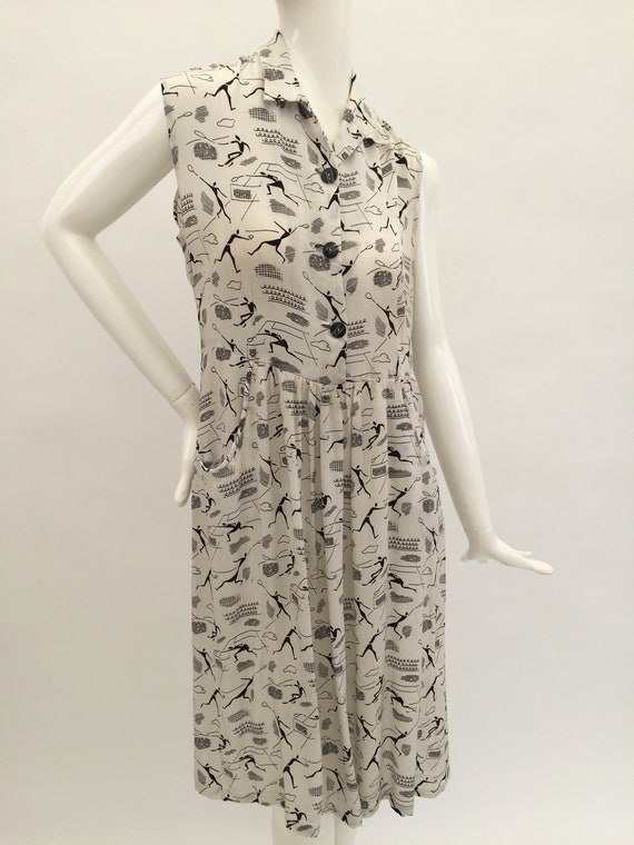 1940s tennis dress vintage antique
