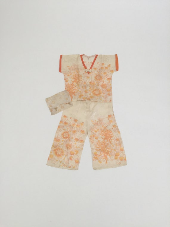 1920s child size pyjamas deadstock vintage antique