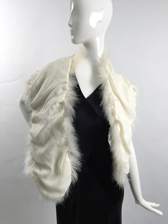 1950s marabou feather stole vintage - image 8
