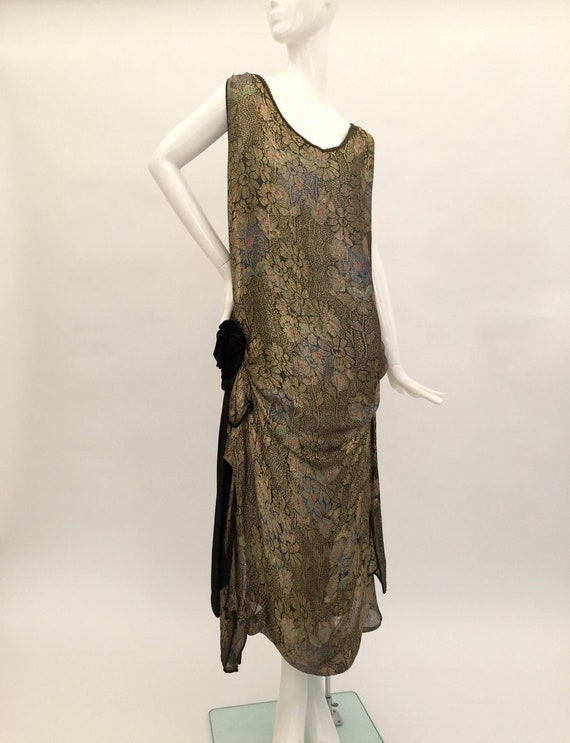 1920s lamé evening dress antique flapper vintage a