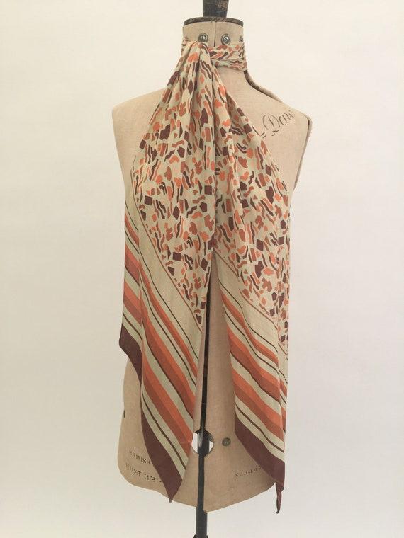 1930s silk scarf Art Deco vintage antique