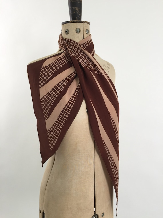 1930s silk scarf vintage antique