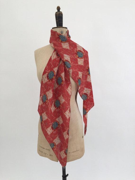 1930s scarf Art Deco vintage antique