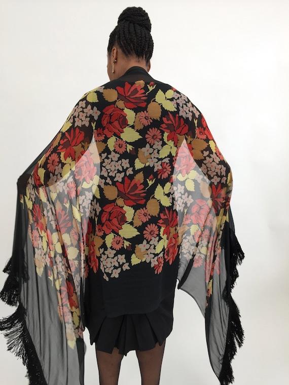 1920s shawl silk chiffon vintage antique - image 5