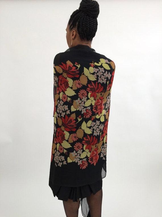 1920s shawl silk chiffon vintage antique - image 4