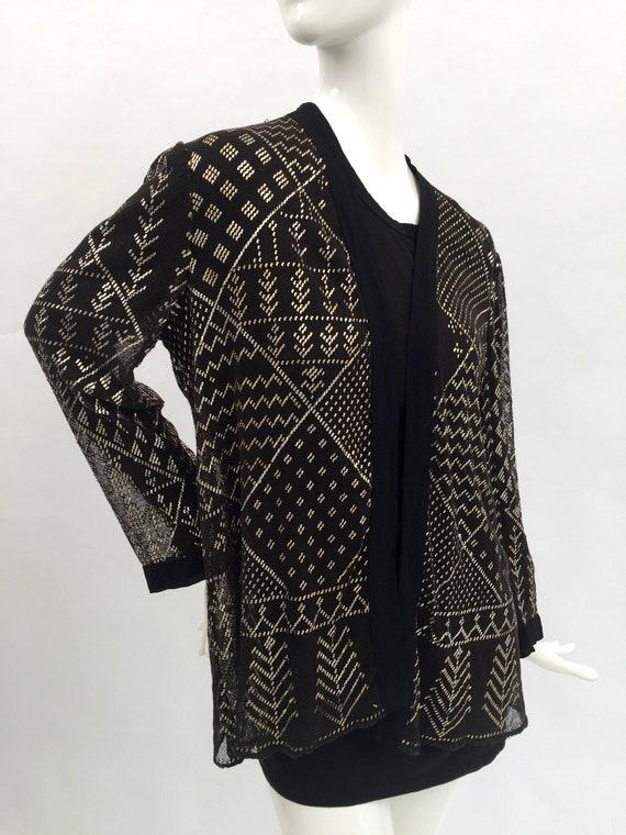 1920s Assuit metal jacket Egyptian Revival vintage