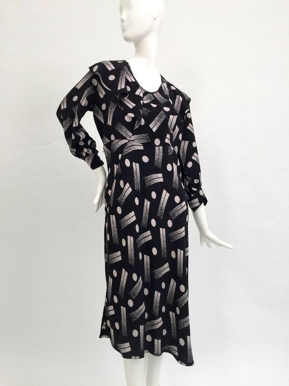 1930s dress geometric Art Deco design vintage anti