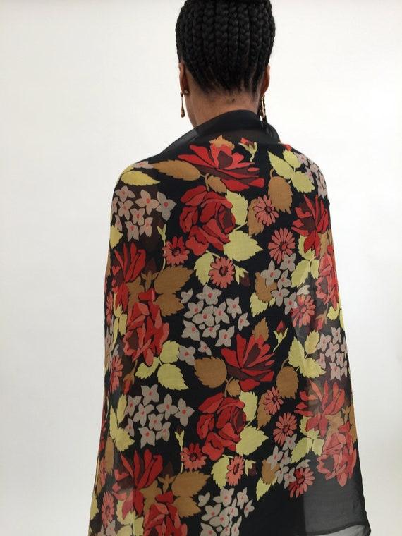 1920s shawl silk chiffon vintage antique - image 10