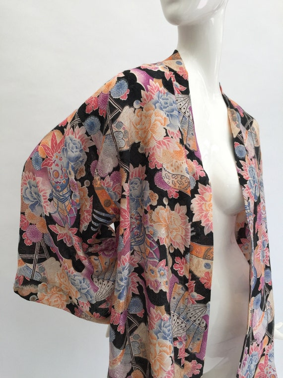 Floral kimono style jacket made from original 1920