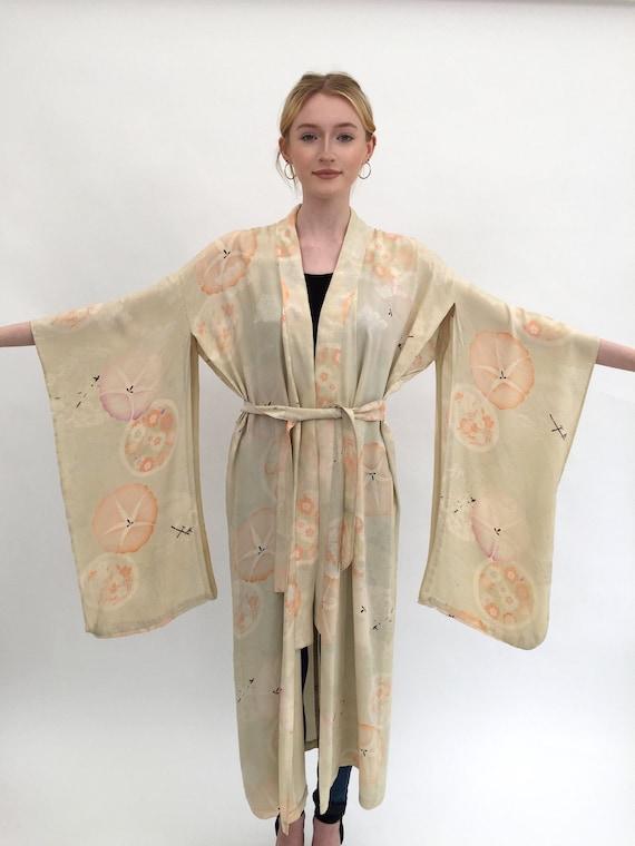 1920s silk kimono robe vintage antique