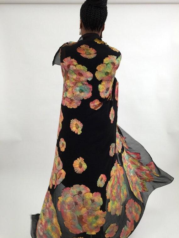 1920s devoré silk shawl vintage antique