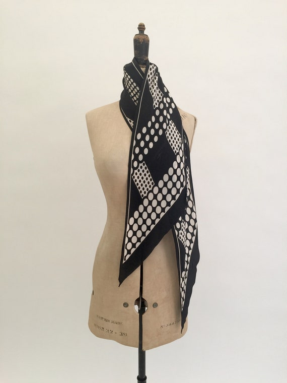 1930s silk scarf geometric design vintage antique