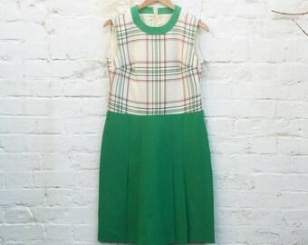 60s Check Sheath Dress