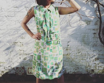 60s Playful Shift Dress