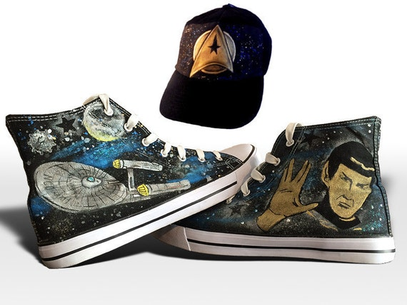 Custom handpainted Star Trek shoes