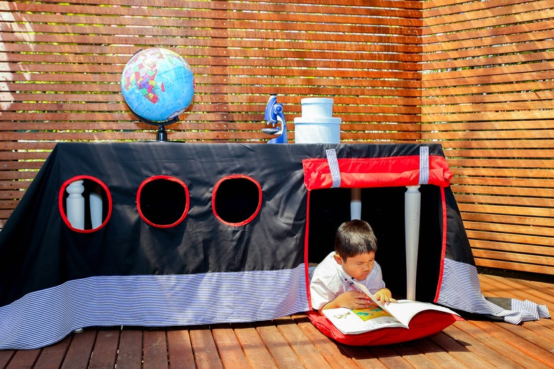 kids birthday table decor outdoor indoor playhouse kids room Boat Tablecloth Playhouse pirate ship,party tablecloth playhouse
