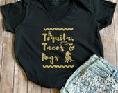 Tequila, Tacos, and Dogs Graphic T-shirt
