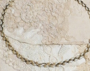 Vintage Freshwater Pearls Braided Chain Necklace