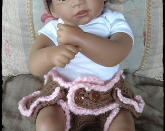Baby Diaper Cover with Headband Crochet