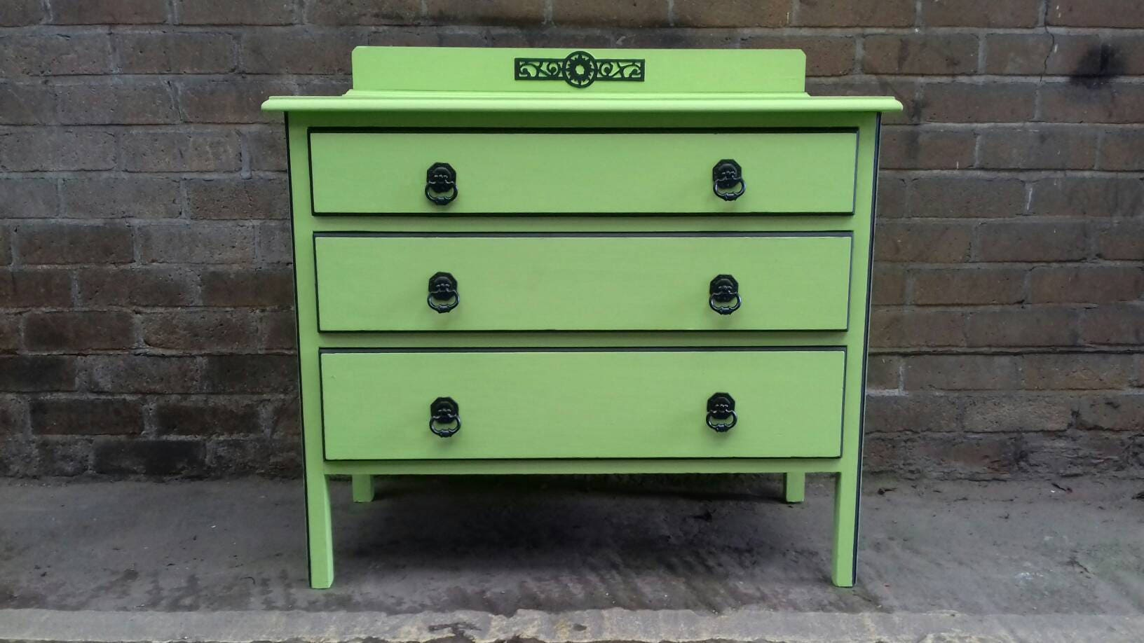 green painted furniture. Chest Of Drawers Painted Furniture Upcycled Vintage Hand Green E
