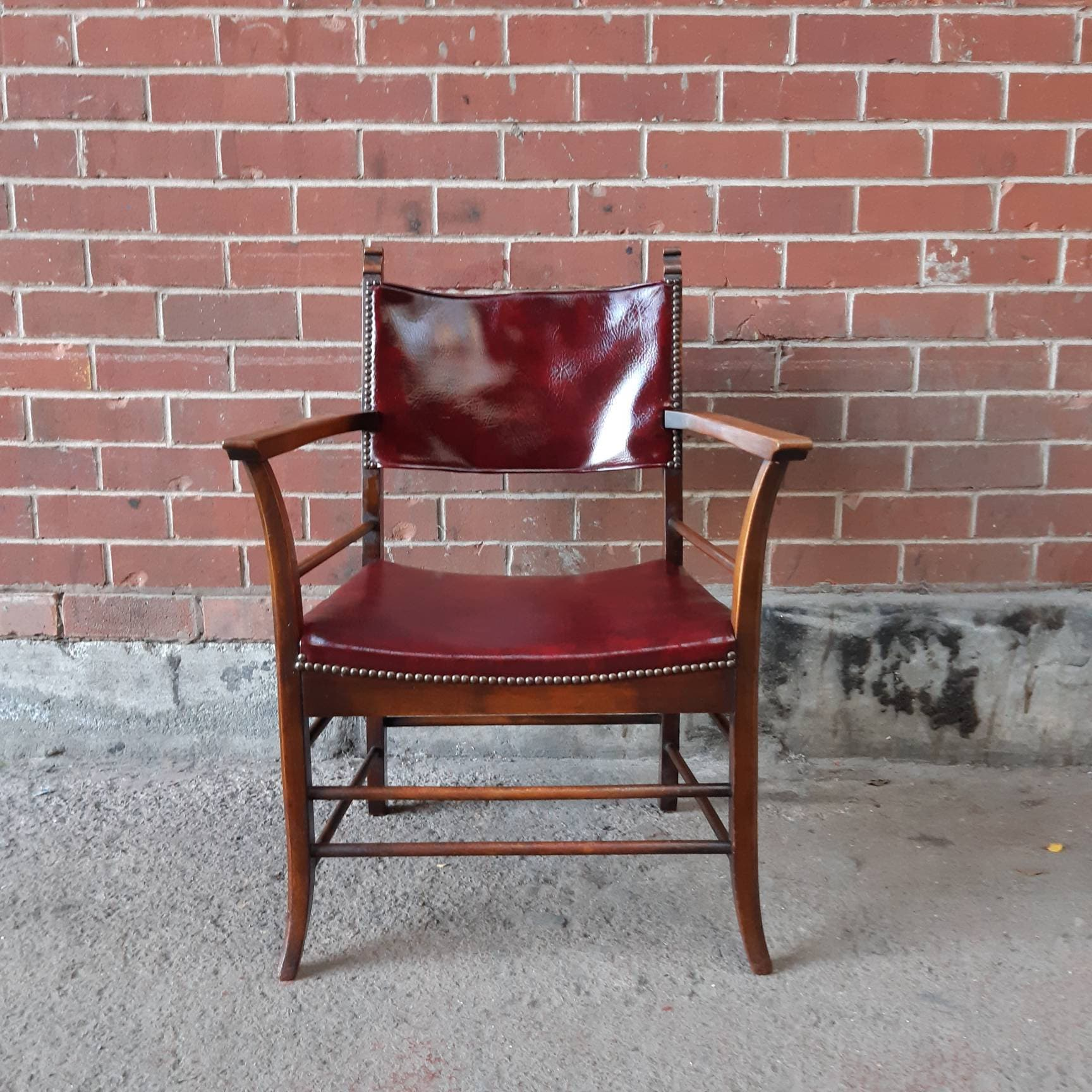 Swell Mid Century Chair Leather Armchair Office Desk Chair Retro Dailytribune Chair Design For Home Dailytribuneorg