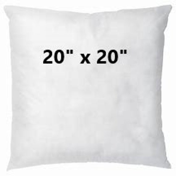 Pillow Insert 20x20 Polyester Pillow Insert Throw Pillow Etsy