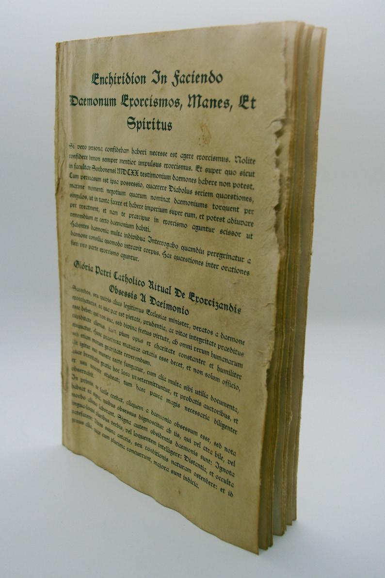 Exorcism Guide - Enchiridion In Faciendo Daemonum Exorcismos, Manes, Et  Spiritus - Roman Breviary Rituale Romanum Supernatural Exorcist Book