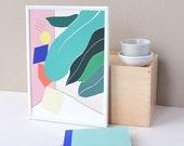 Botanical print, Modern Geometric, Promotion, Home decor, Plant print, Colourful, Playful, Wall art, Bauhaus, Abstract, Urban Poster,