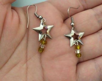 Shining Silver Star Earrings