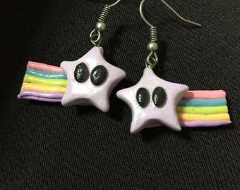 Kawaii Rainbow Star Earrings