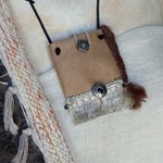 Small medicine bag / purse, shamanic amulets bag, purse stone therapy, Crystal healing
