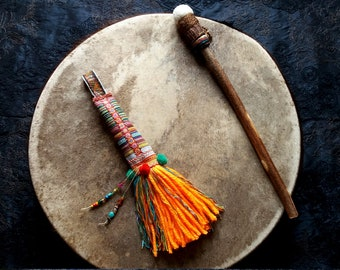 Totem Color abundance, support for spiritual, talisman, accessory work shamanic, sacred object of power, energy key