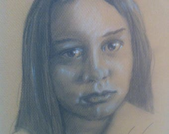 Quick Sketch Graphite Drawing from your photo-Head and Shoulders