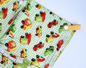 Tractor Truck Lovey Baby Blanket, Play Mat, Rag Quilt Blanket