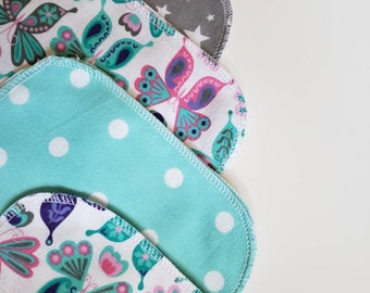 Reusable Baby wipes,  zero waste baby gift, Mama Cloth, Wipes, Unpaper, Cloth Diapering, Baby Wash Cloths, Eco-friendly baby, Butterflies