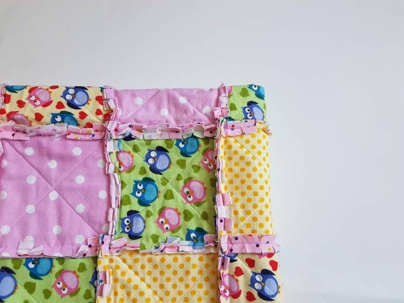 Owl Baby Quilt Crib Bedding Pink, Owl Nursery Bedding Yellow
