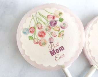 Mothers Day gift - Flowers Lollipops - Mothers day Lollipop - Gift for Mothers Day - Mothers Day Sweets - Spring Wedding Favor - Set of six