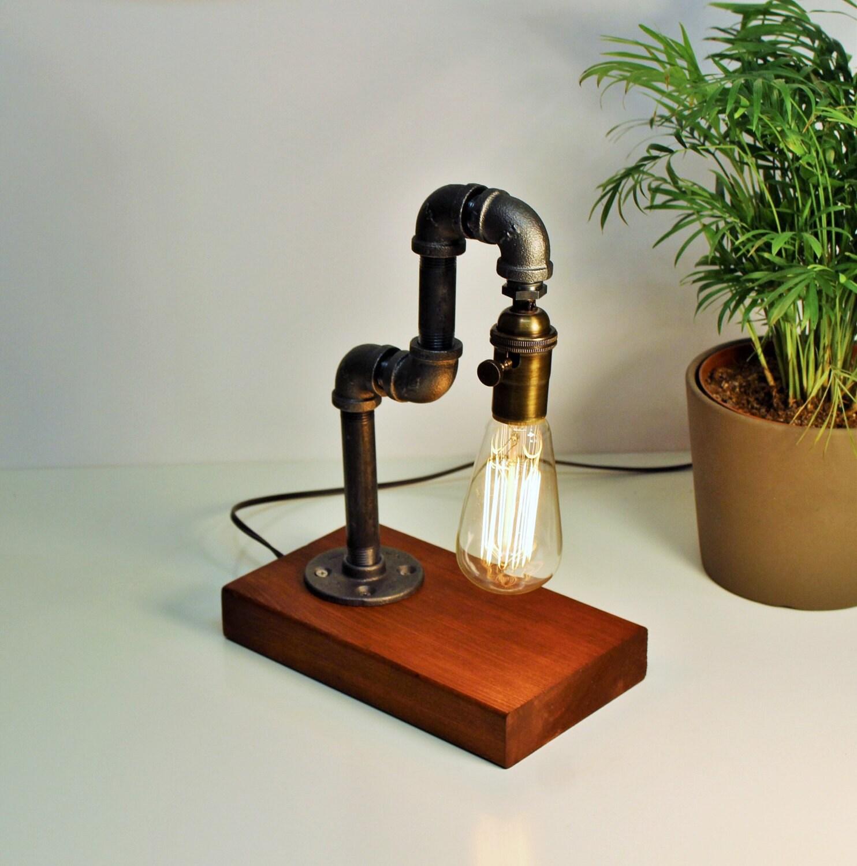 Edison Lamp/Rustic Home Decor/Table Lamp/Industrial