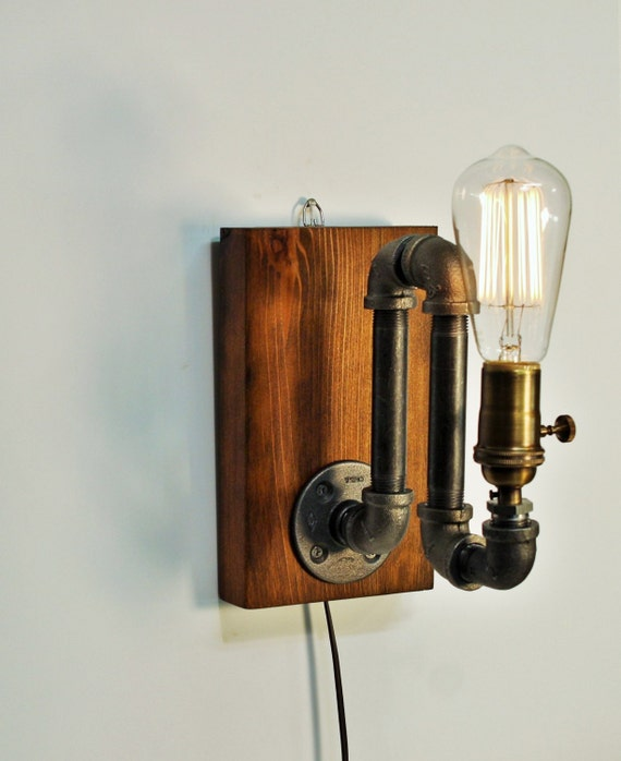 Industrial Sconce Light Lamp Unique Wall Light Lamp Steampunk Etsy